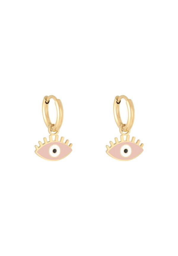 Earrings Pastel Eyes Pink