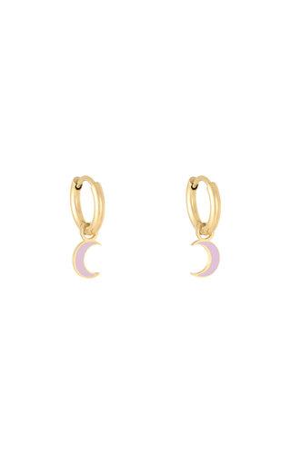 MINOMI Earrings Pastel Moon Lila