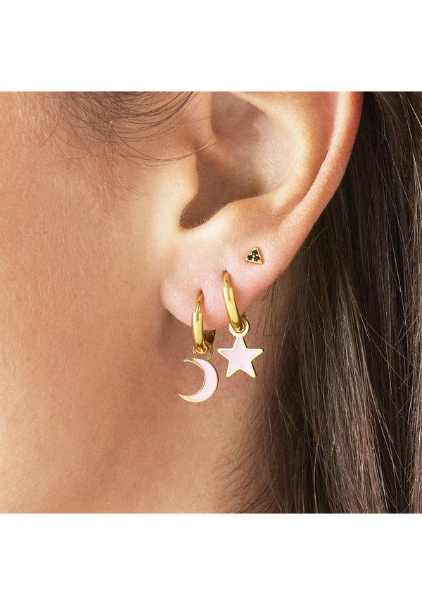Earrings Pastel Moon Pink