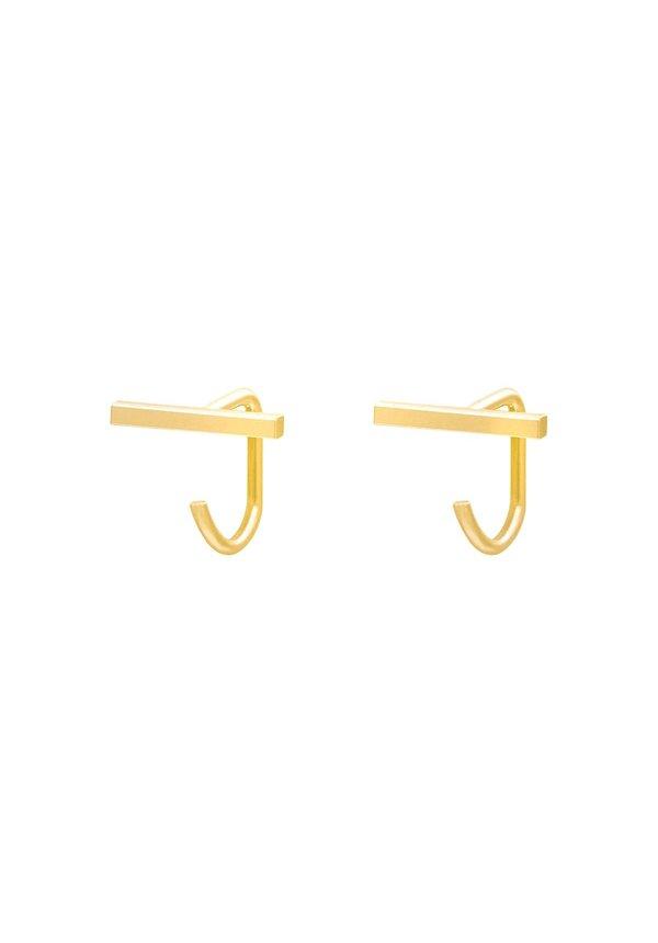 Earrings Huggies Bar Gold