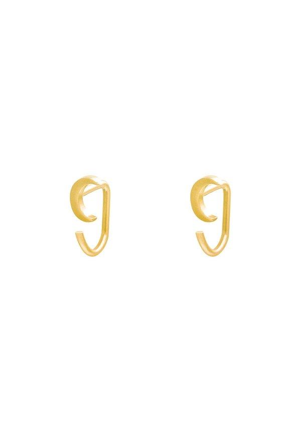 Earrings Huggies Moon Gold