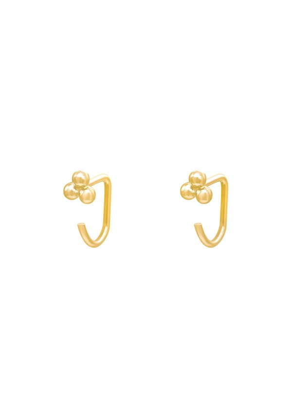 Earrings Huggies Triple Ball