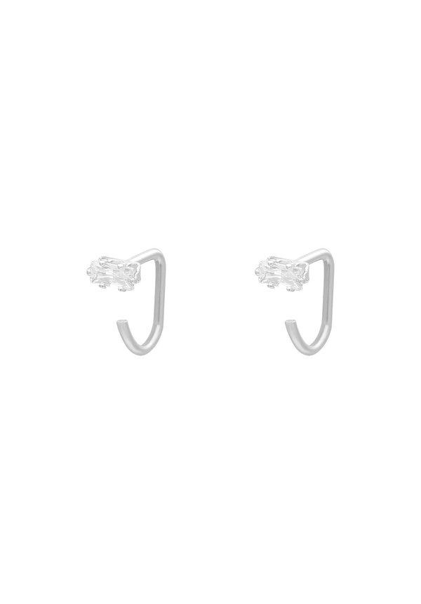 Earrings Huggies Square Zircon SS