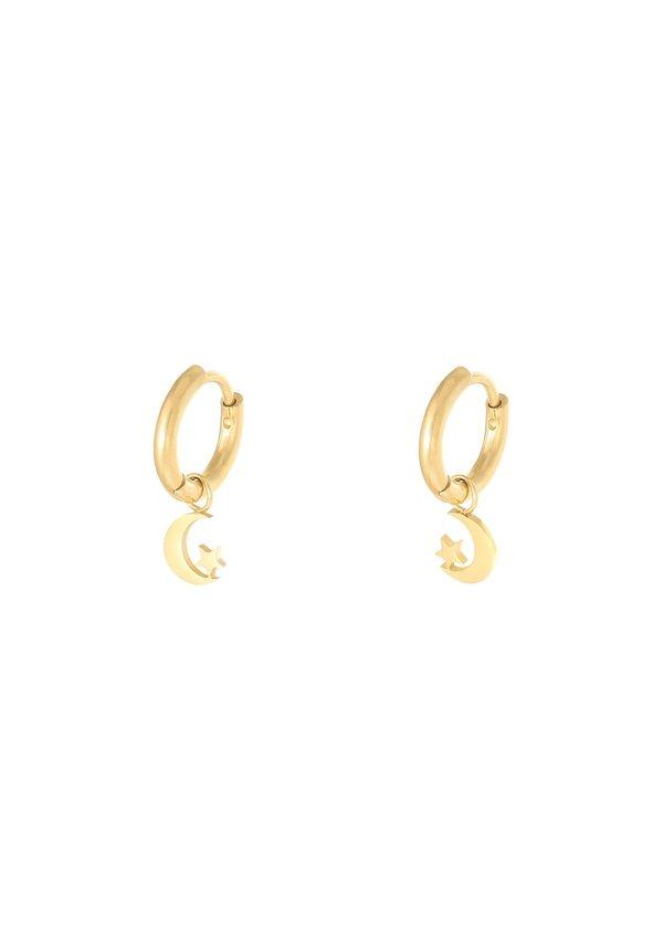 Earrings The Moon Gold