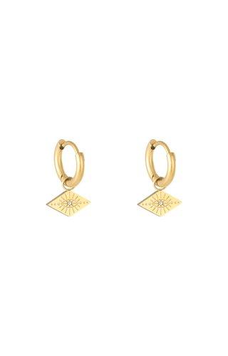 MINOMI Earrings Evil Eye Gold