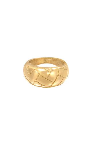 MINOMI Ring Braided Gold