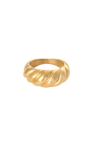 MINOMI Ring Large Baguette Gold