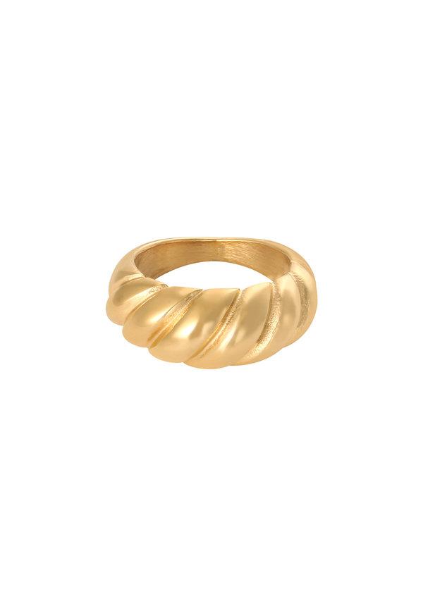 Ring Large Baguette Gold