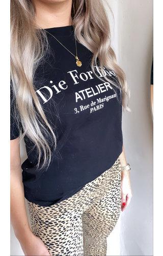 DIE FOR DIOR TEE BLACK