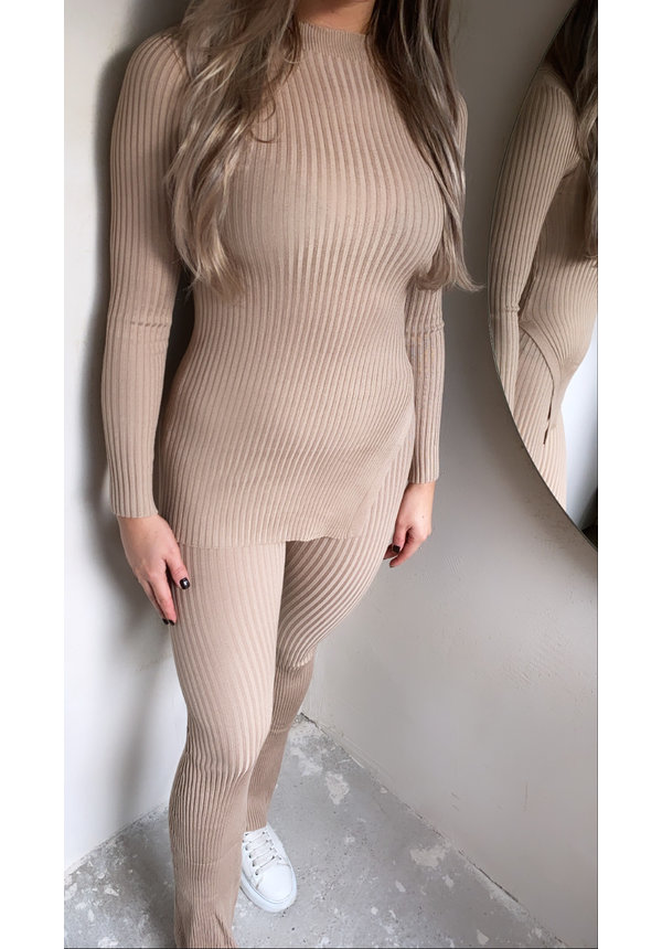 TWINSET FLARED NUDE
