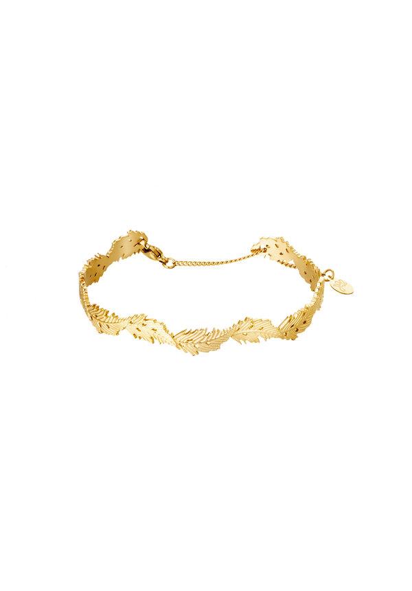Bracelet Wavy Leaf