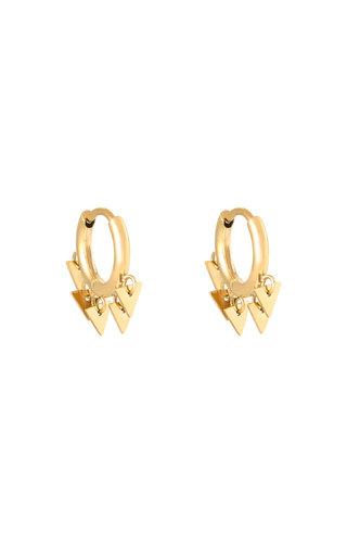 Earrings Floating Triangles