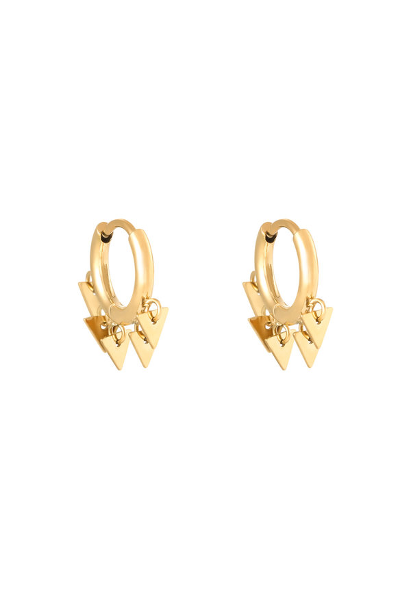 Earrings Floating Triangles