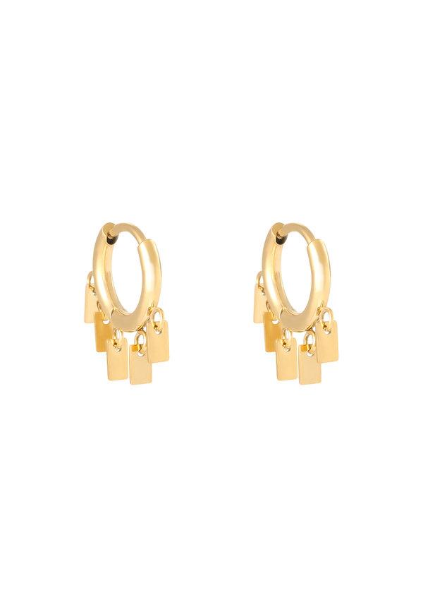 Earrings Floating Rectangles