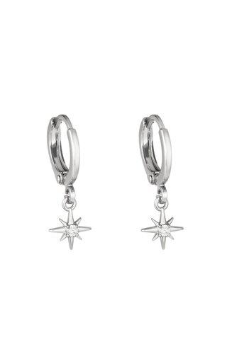 Earrings Lustrous Silver