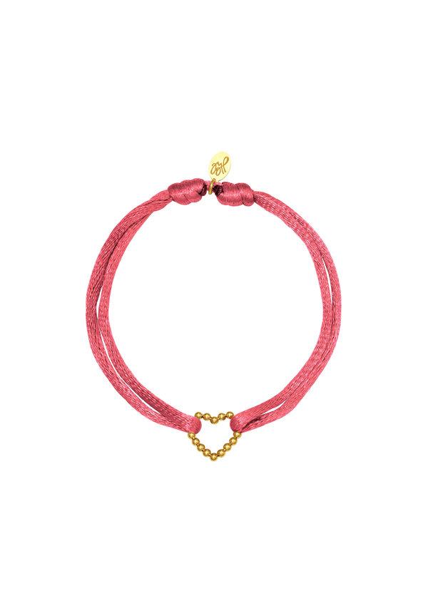 Bracelet Satin Heart