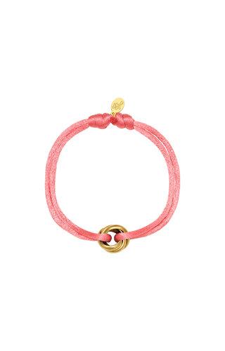 Bracelet Satin Knot Pink Gold
