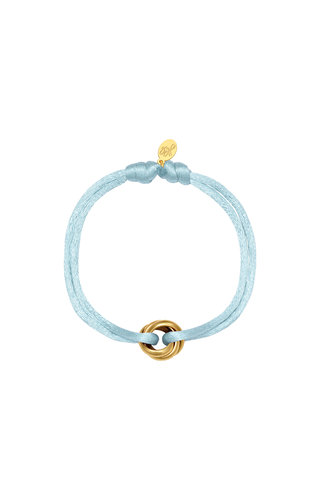 Bracelet Satin Knot  Light Blue
