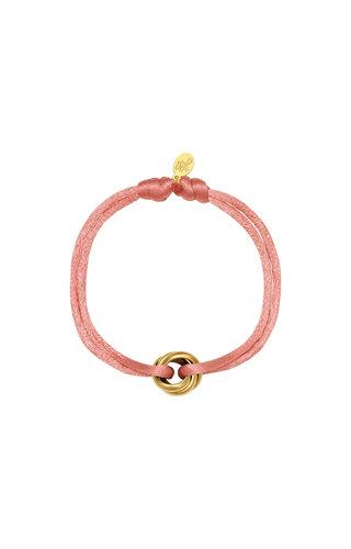 Bracelet Satin Knot  Pink