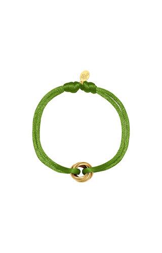 Bracelet Satin Knot Olive