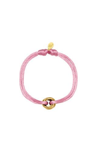 Bracelet Satin Knot Pale Pink