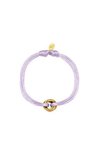 Bracelet Satin Knot Lilac