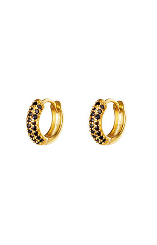 Earrings Desire Gold Black