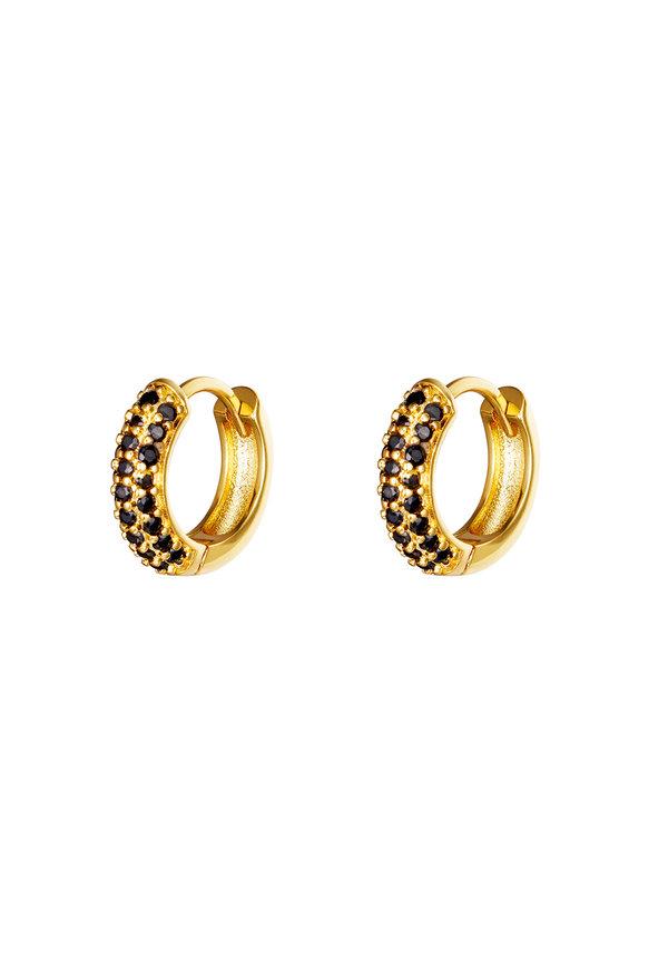 Earrings Desire Gold Black