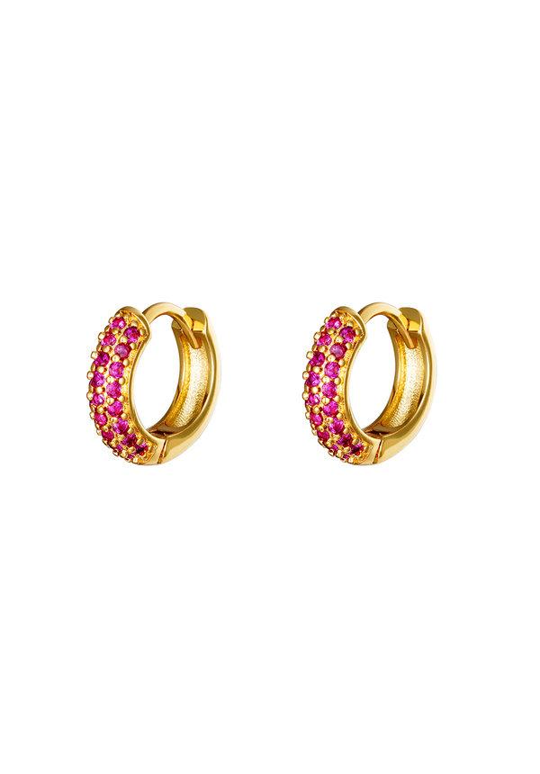 Earrings Desire Gold Pink