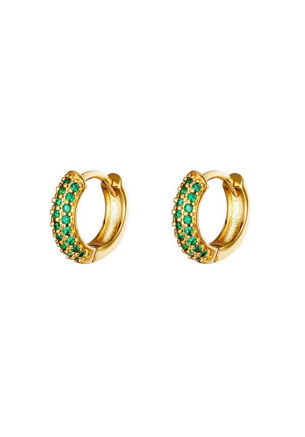 Earrings Desire Gold Green