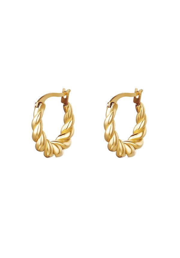 Earrings Dangling Twist
