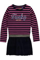 Quapi Jurk Lisa dark blue stripe