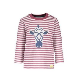 Moodstreet Longsleeve stripe parch 627 grape