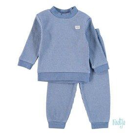 Feetje Pyjama wafel blauw NOS
