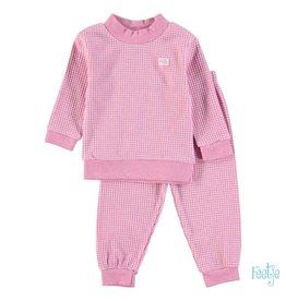 Feetje Pyjama wafel fuhsia