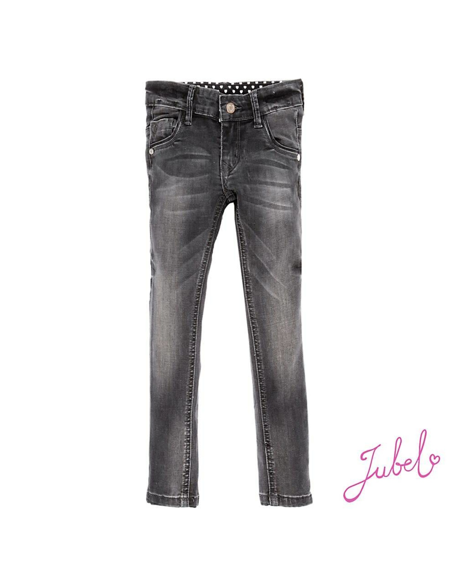 Jubel Broek antraciet denim power stretch slim