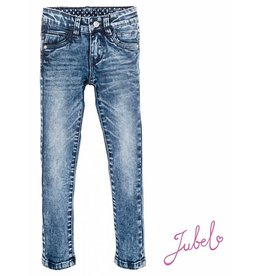 Jubel Broek dark blue denim power stretch slim 990
