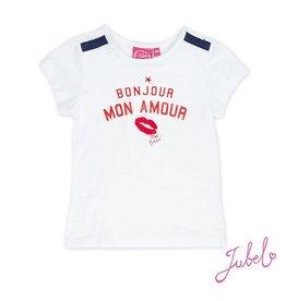 Jubel T-shirt k/m bonjour Sea View Wit