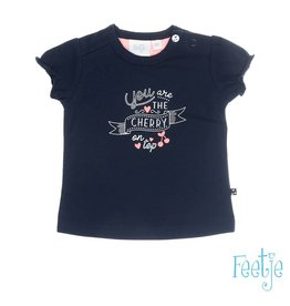 Feetje T-shirt k/m chrerry on top Cherry sweet marine