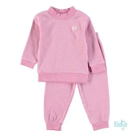 Feetje Pyjama wafel fushia 128