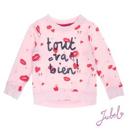 Jubel Sweater all over print Roze