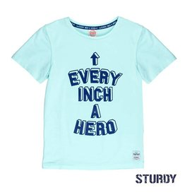 Sturdy T-shirt k/m every inch a hero Scuba Mint