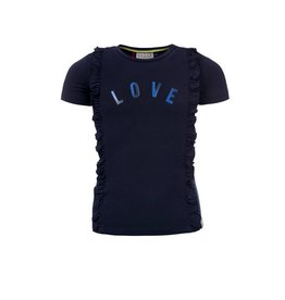 Looxs T-shirt with multi 190 navy
