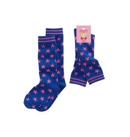 Z8 Sokken blue/pink stars
