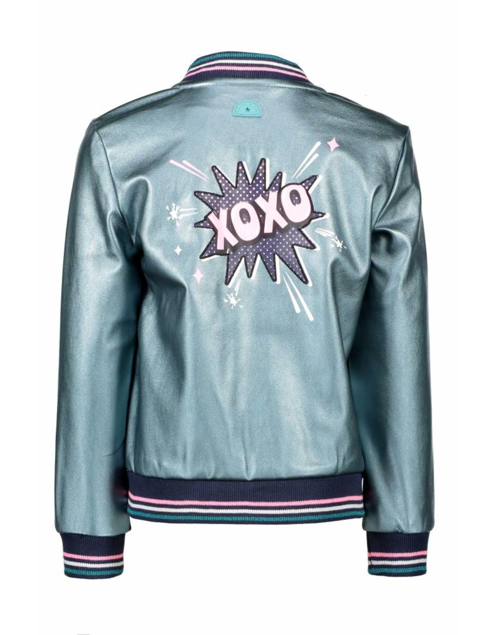 B-nosy B-nosy jack fake leather 144 metallic turquoise