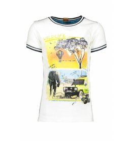 B-nosy B-nosy T-shirt safari 002 chalk white