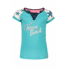 B-nosy B-nosy  T-shirt star sleeves 142 turquoise