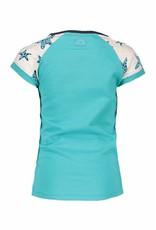 B-nosy B-nosy  T-shirt star sleeves 142 turquoise
