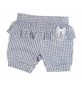 Gymp Shorts with ruffles blue/white