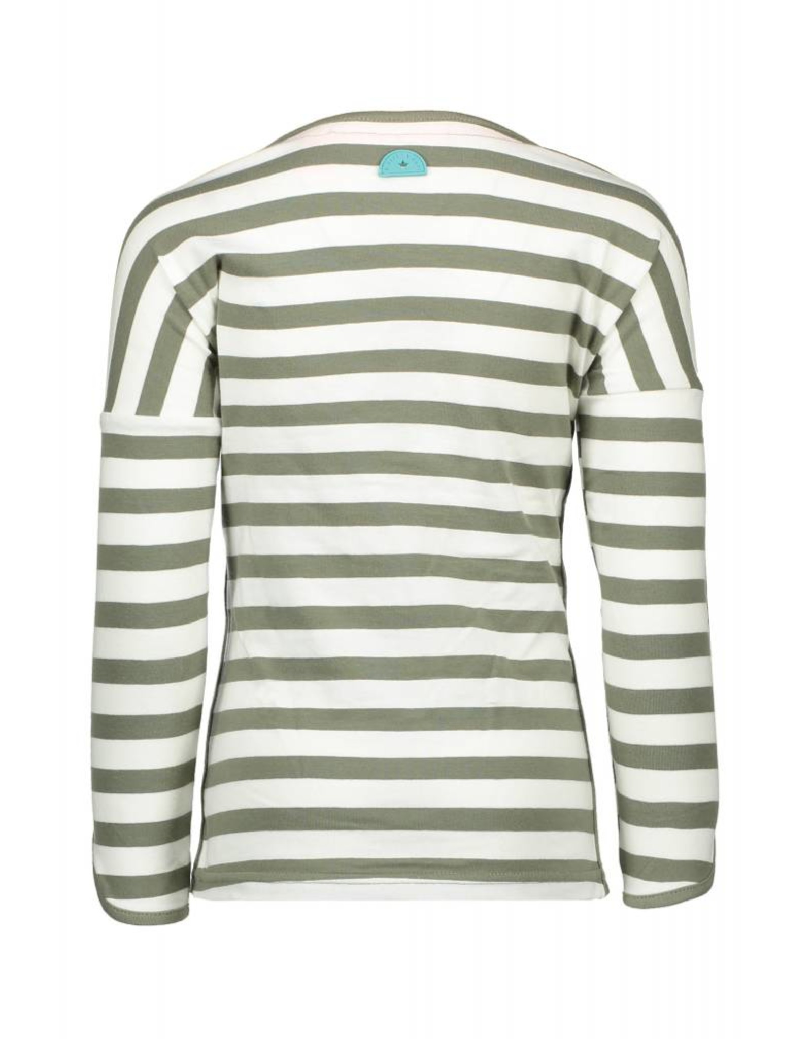 B-nosy B-nosy Longsleeve stripe 966 green white